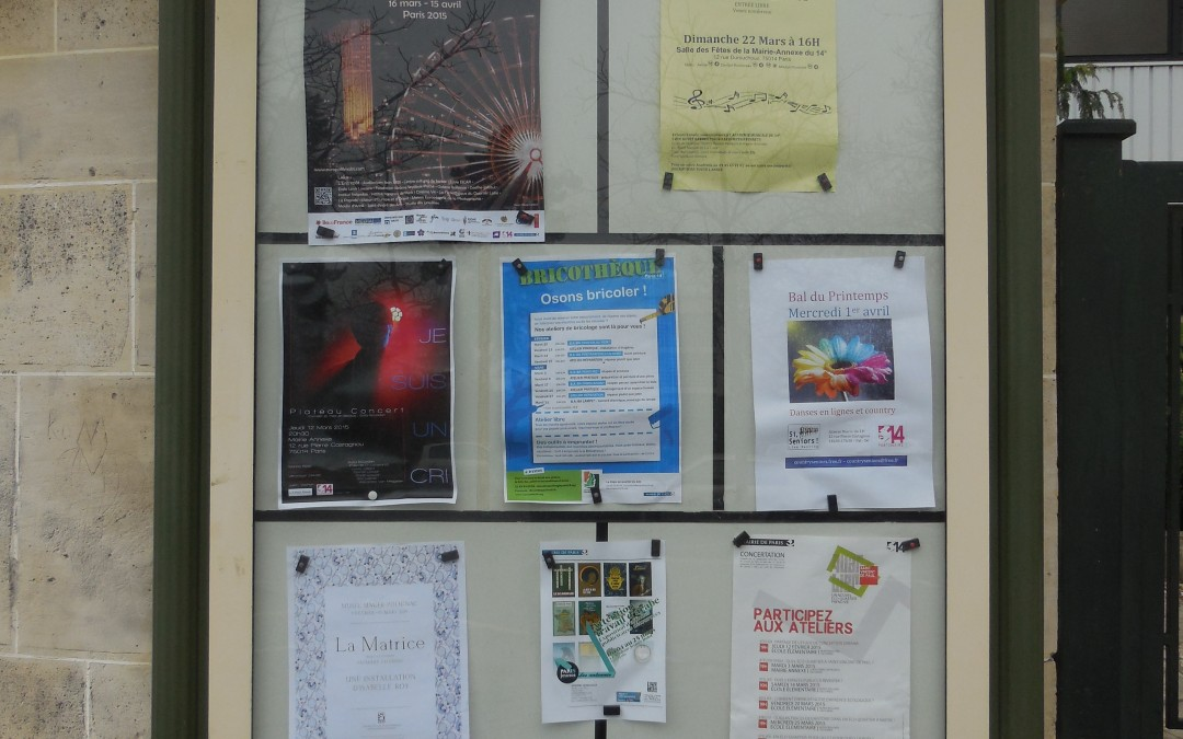 MAI 2015 – Prestation affichage associatif