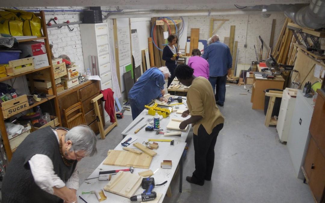 Ao t 2015 cr neaux largis pour acc der l atelier venez bricoler r gi - Atelier bricolage paris ...