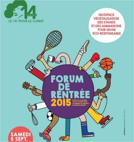 Samedi 5 septembre – Rencontrez la Régie au Forum des associations du 14e !