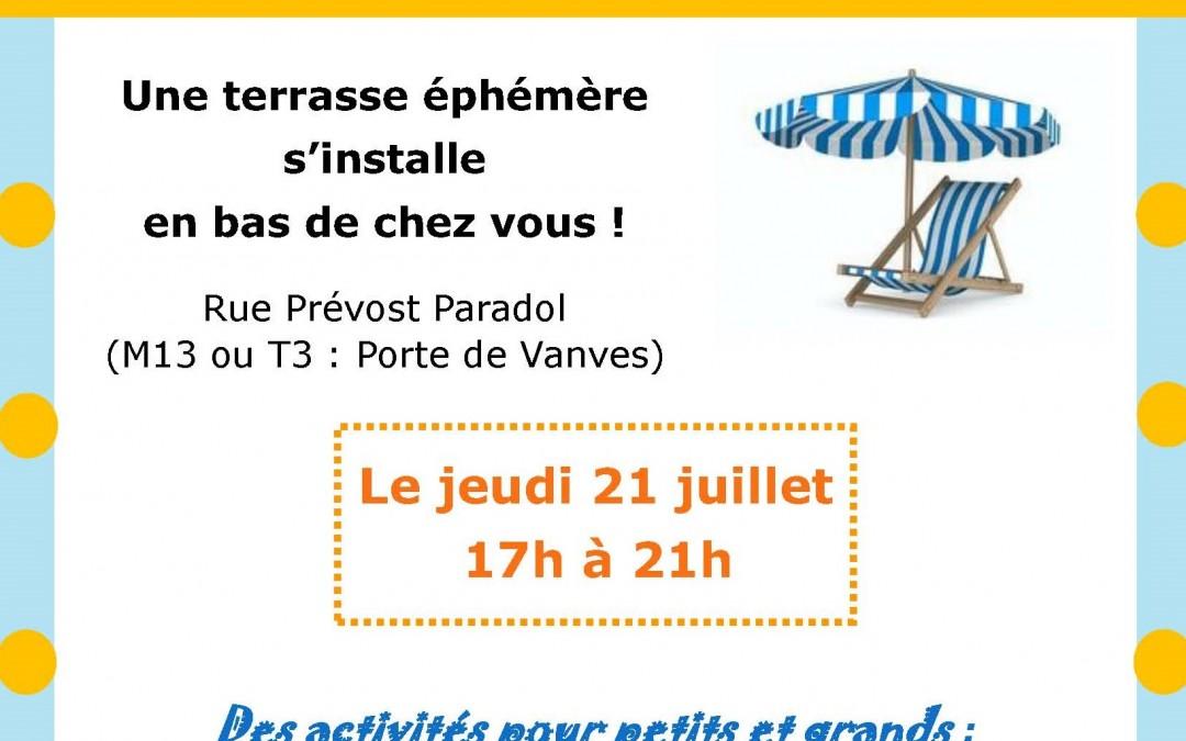 Jeudi 21 juillet de 17h à 21h – Un Air de Vacances souffle sur Paradol !