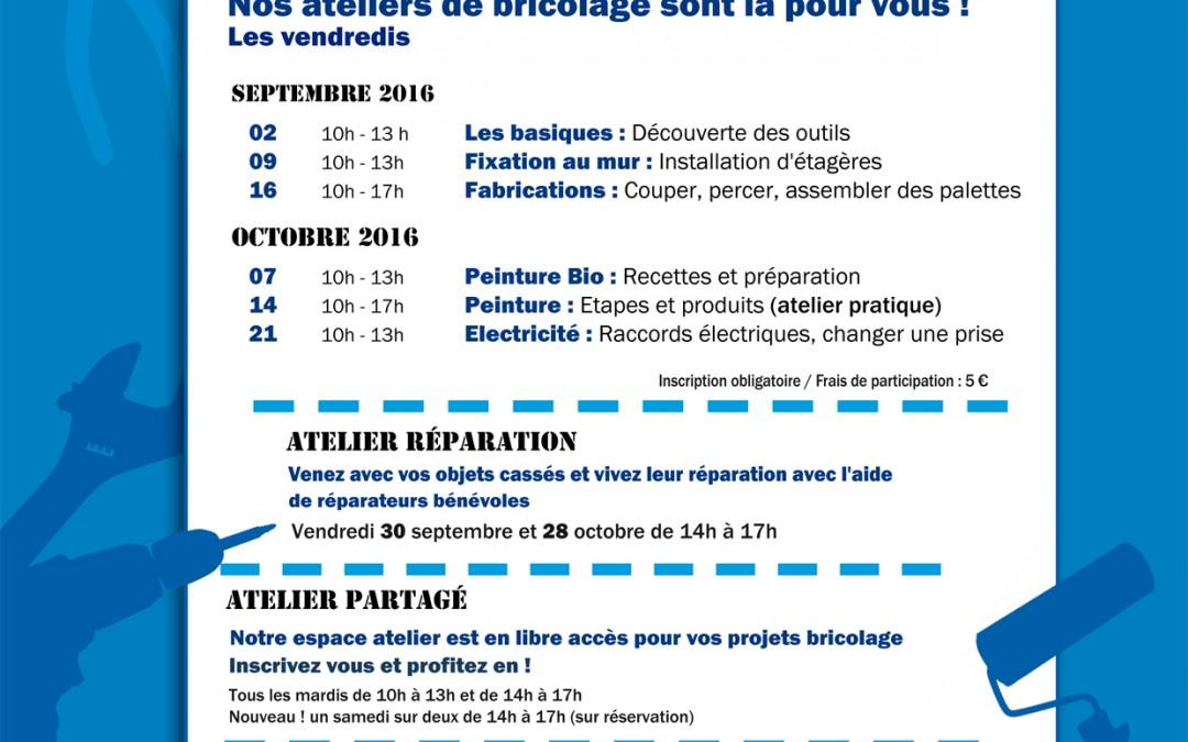 Septembre et octobre 2016 – Agenda Bricothèque